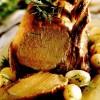 File de porc cu cartofi noi la cuptor