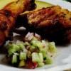 Ciocanele de pui cu salata
