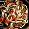 Macaroane cu vinete şi mozzarella