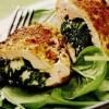 Cordon-bleu cu spanac si mozzarella