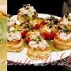 Aperitive: mini-rulouri cu salata de pui, cosulete cu ciuperci si maioneza, aperitive cu anşoa