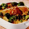 Sufleu de pui cu broccoli asezonat cu sos cremos