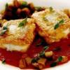 Peşte şi vinete cu sos de roşii