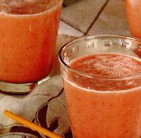 Cocktail cu pepene rosu si galben