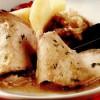 Cotlet de porc cu piure de ceapă roşie