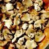 Pizza de cartofi cu hribi şi branză de capra