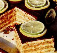 Prăjitură răcoritoare cu lămâie si nuci