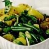 Salată de fasole verde cu cartofi noi