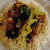 Thai-Curry verde cu garnitură de orez