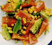 Salata de avocado cu pepene galben