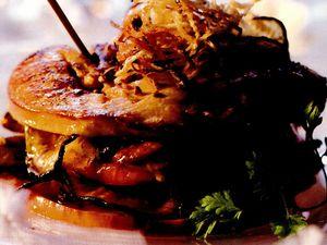 Sendvis de foie gras si mere