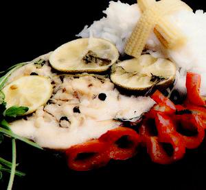 Cotlete de peşte cu legume