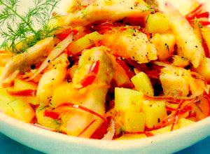 Salată scandinavă de hering