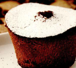 Brioşe cu ciocolată şi cremă cu lichior de cafea
