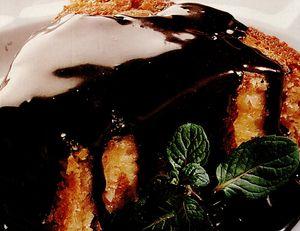 Prăjitură cu lapte, migdale şi ciocolată