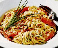 Spaghetti cu somon