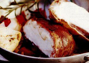 Bacon umplut cu brânză de capră