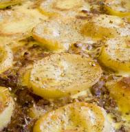 Budinca de cartofi cu vinete