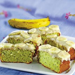 Chec cu kiwi şi cremă de banane