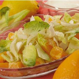 Salată de andive cu portocale