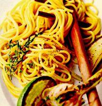 Spaghete cu usturoi si limette