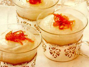 Cheesecake cu coajă confiată de portocale