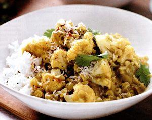 Curry de linte şi conopidă