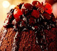 Desert de ciocoala cu sirop picant de fructe de padure