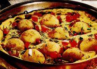 Gnocchi cu omletă la tigaie