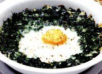 Ouă în cremă de leurdă