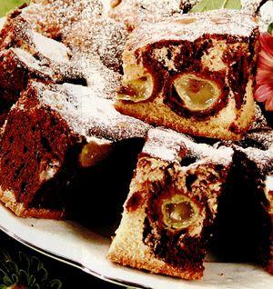Prăjitură marmorată cu struguri
