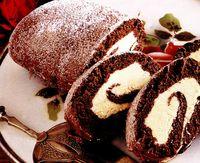 Ruladă de ciocolată cu cremă de vanilie