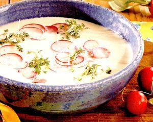 Supă de cartofi cu ridichi
