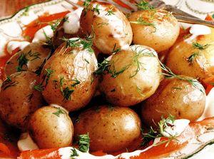 Cartofi cu smântână si somon