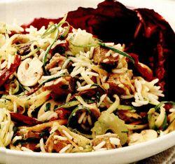 Friptură de vită cu salată de orez