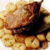 Pulpe_de_rata_în_suc_propriu_cu_sote_de_cartofi