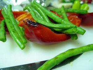 Salată cu busuioc şi fasole verde