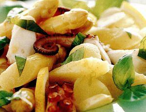 Salata de caracatita si sparanghel alb