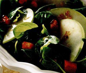 Salata de spanac si mar verde