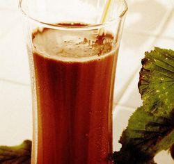 Lapte cu ciocolata si cu rom