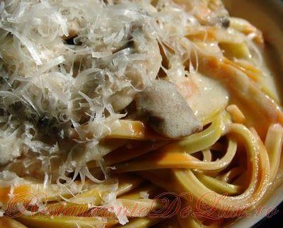 Reteta zilei: Linguine cu sos de ciuperci si mascarpone
