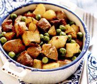 Mancare de cartofi cu mazăre
