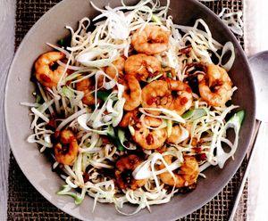 Salata de taitei si creveti aromati