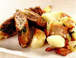 Friptura cu sparanghel si garnitura de cartofi