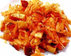 Salată de morcovi, rubarbăr si nectarine