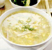 Supa de porumb cu praf de curry