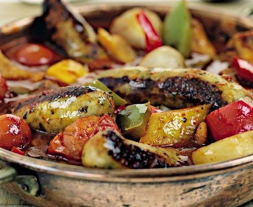 Carnaciori cu legume la tigaie