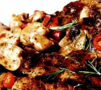 Curry de porc cu coriandru si ciuperci
