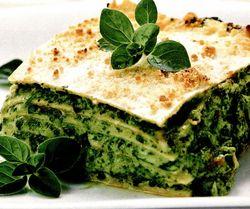 Retete culinare: Lasagna cu spanac