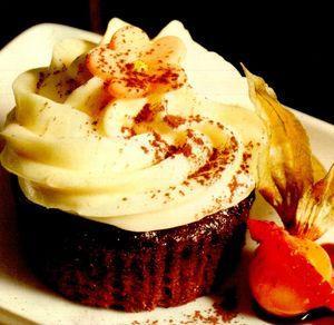 Muffins cu spuma de vanilie